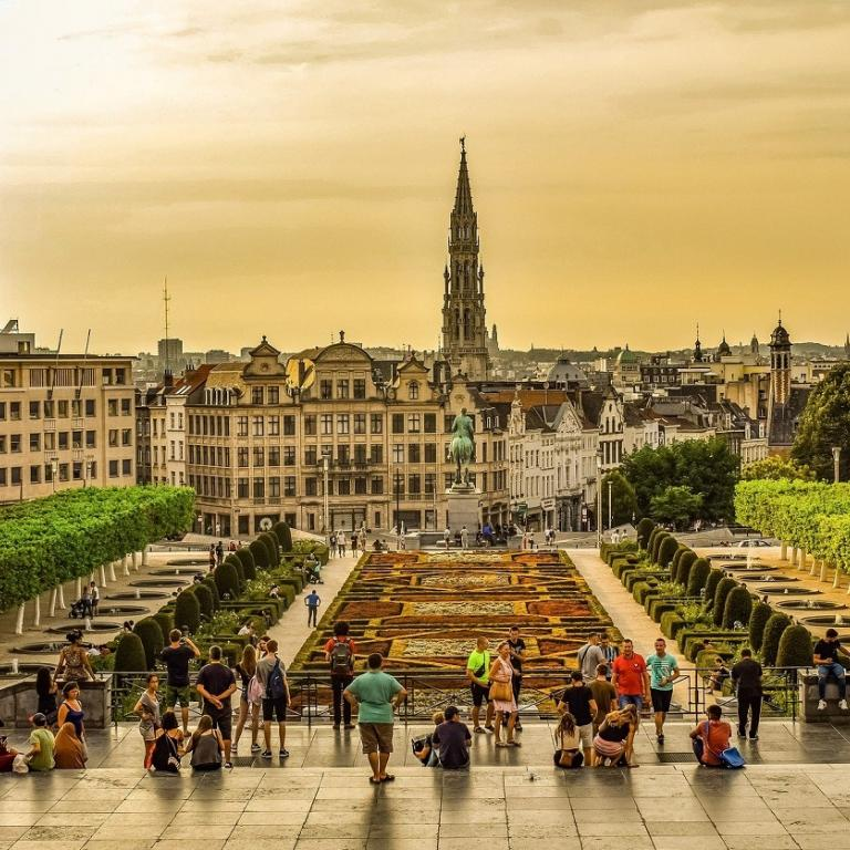 View on Brussels from the Mont des Arts